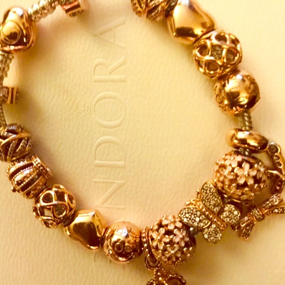 Pandora Jewelry Rose Gold Pandora Bracelet Poshmark